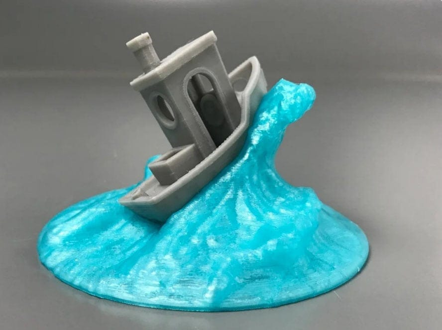 a 3d printed wave for Benchy