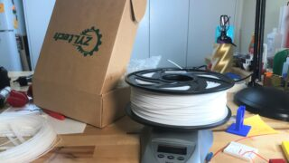 spool of filament on a scale